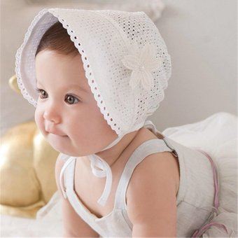 Newborn Infant Beach Bucket Hat Baby Girl Boy Sun Summer Cap Lace Bonnet - intl