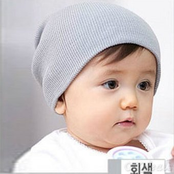 Okdeals Unisex Infant Baby Boy/Girl Soft Cotton Beanie Hat Knitted Kid Winter Warm Cap Gray - intl