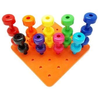 Peg Board Set Montessori Occupational Fine Motor Toy for ToddlersPegboard - intl
