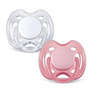 Philips AVENT Freeflow Pacifier BPA Free Pink / White 0-6 Months(Pack of 2) Price Philippines