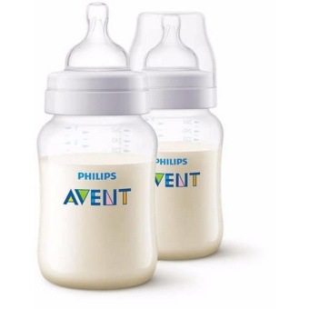 Philips Avent SCF 563/27 Classic Feeding Anti-Colic Bottle 9oz260ml, 2 pieces (Clear) Price Philippines