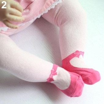 Phoenix B2C Breathable Baby Girl Kids Toddler Lovely Dance Shoes Leggings Tights for 0~36 Months L (Rose Red) - intl Price Philippines