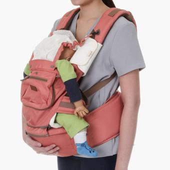 Picolo 5-in-1 Soft Carrier with Hip Seat and Pockets (Salmon)