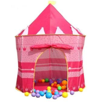 Portable Folding Home Camping Kids Play Tent Castle Cubby House (Pink)