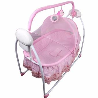 Primi Pretty in Pink Soothing Motions Baby Cradle Swing