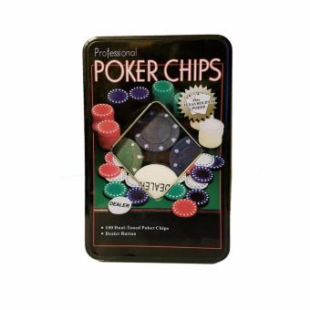 Professional Poker Chips Ctn # 12 (100 Pcs. Chips) in Tin Case