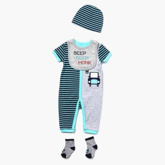 Pure Boys Beep Beep! Bodysuit Set (Blue) Price Philippines