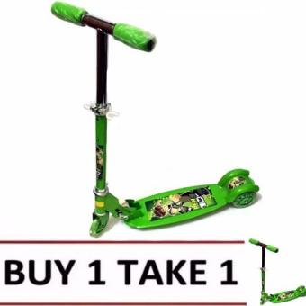 Quality Ride-On Push Scooter for Kids with Laser Wheel (Green) Buy1 Take1