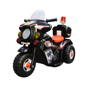 Rechargeable electric three-wheeled motorcycle children ride-ontoys(Black)