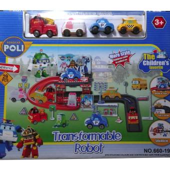 Robocar Poli Playset With Characters
