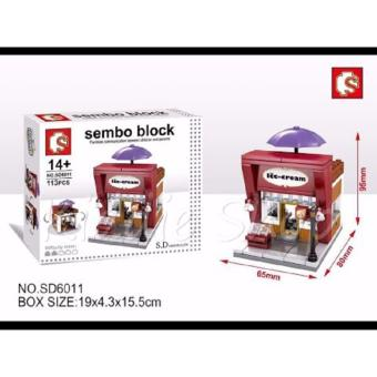 SEMBO BLOCKS SD6011 ICE CREAM Shop Building Blocks Toy(113 PCS)