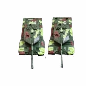 SHOP AND THRIFT 9807-2 2 Sets of Army Tank Electric Toy Car