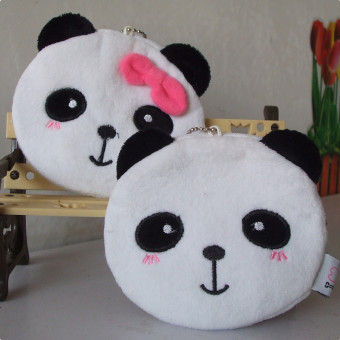 Small PANDA Korean-style plush men and women children's couple's bag purse