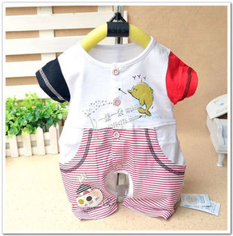 Summer short sleeved baby leotard baby romper