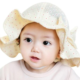 Sun Cap Summer Outdoor Baby Girl Hats Sun Beach Bucket Hat(Beige) -intl Price Philippines