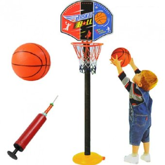 Super SPOT Set Basketball Kids Toddler Baby Indoor AdjustableBasketball Hoop Toy Set Stand Ball Pump 9602 Price Philippines