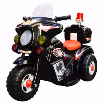 TC-005 Rechargeable Motor Bike Kids Ride-on Toys Police Motorcycle (Black)
