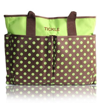 Tickle TMN-150 Cute Polkadots Baby Diaper Bag (Green)