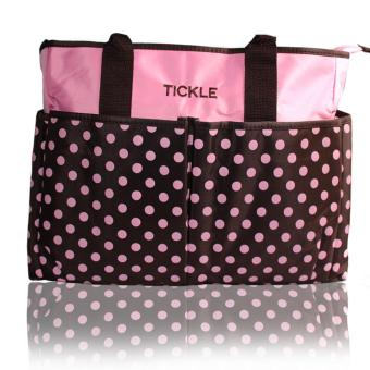Tickle TMN-150 Cute Polkadots Baby Diaper Bag (Pink)