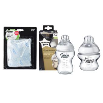 Tommee Tippee CTN Bottle 5oz/150ml (Clear) Tommee Tippee CTN Bottle 9oz/260ml (Clear) Tommee Tippee Hot & Cold pack (white)