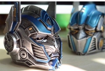 Transformers the knight finally the Qing pillar steel Xia helmet in sky do a Garage Kit - intl