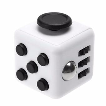 White + Black Fidget Cube Anxiety Stress Relief Kids Adults DeskToy