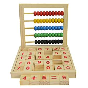 Wooden Abacus Children Counting Number Maths Learning Toy(Multicolor) - intl Price Philippines