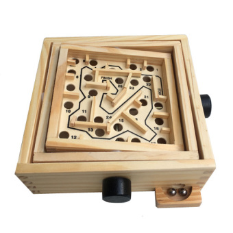 Wooden adult children's handheld maze