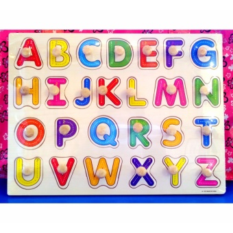 Wooden Inset Board Upper Case Alphabet Puzzle