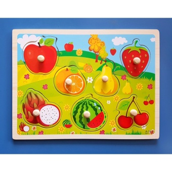 Wooden Inset Pegged Board Fruits Puzzle - Educational andTherapeutic Toy