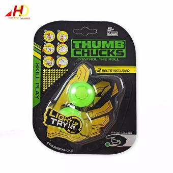 Yo-yo Skill toy Thumb Chucks Fidget Toys Bundle Control Roll GameFinger Anti Stress Toys (Green) Price Philippines