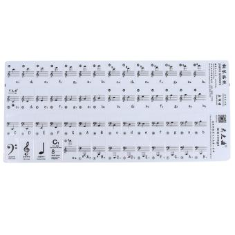 ZigZagZong Transparent 61 Key Electronic Keyboard Stickers 88 Key Piano Stave Note Sticker - intl