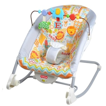 Zover Baby Rocking Chair Infant Bouncers Baby Kids ReclinerVibration Swing Cradle With Music-Animal Kingdom