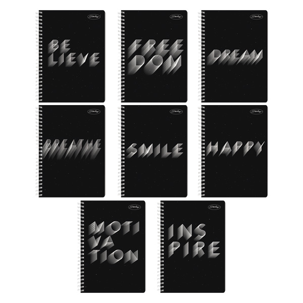 Image of Sterling 1 Word Spiral Notebook 685 Set of 8