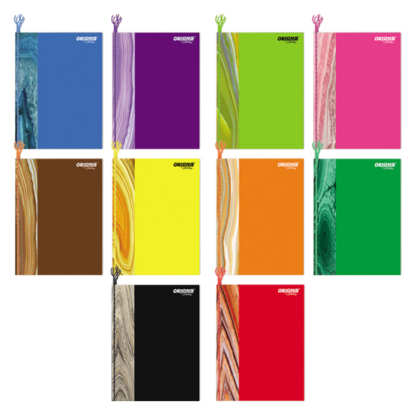 Image of Orions Color Coding Stripes Yarn Notebook Set of 10