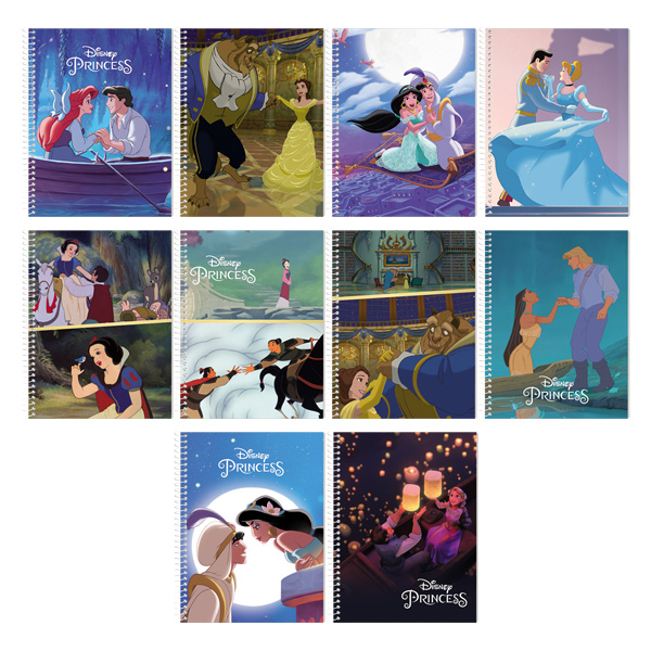 Image of Orions Disney Princess Spiral Notebook Set of 10