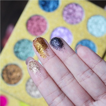 12 Color Glitter Pigmented Diamond Glitter Eye Shadow Flash Rainbow Shimmer Imagic Eyeshadow MakeUp Cosmetic Pressed Palette (color 2#) - intl