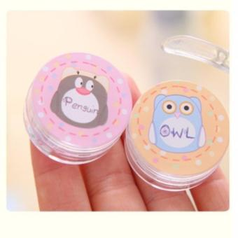 2pcs Random Design Set Empty Cosmetic Mini Bottle Jar Container