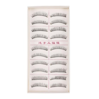 3D Magnetic False Handmade Thick Eye Lashes Extension Makeup Tool Ten Pairs - intl