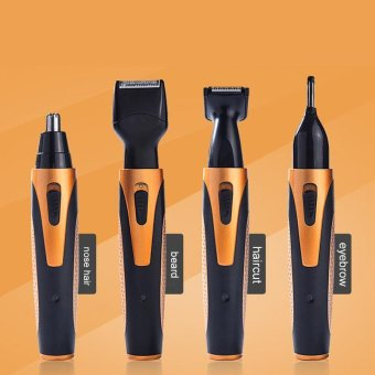 4 In 1 Rechargeable Mens Nose Ear Temple Hair Trimmer Beard Shaver Grooming Kit US Plug - intl