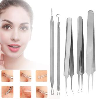 5PCS/Set Blackhead Blemish Acne Comedone Extractor Remover Removeal Needle Ki With Box - intl