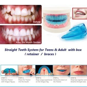 A retainer + Box Orthodontic Straight Teeth for Teens & Adult (Blue)