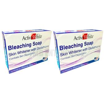 Active White Bleaching Soap Skin Whitener with Glutathione 135g,Set of 2