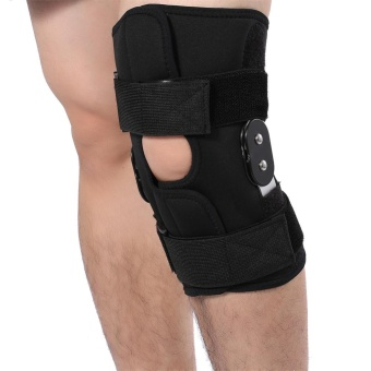 Adjustable Knee Brace Pad Support Leg Protector Compression Sleeves Safety Strap (XL) - intl