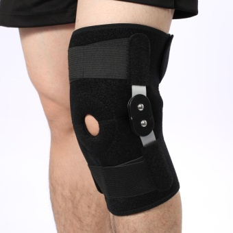 Adjustable Sports Knee Support Brace Leg Protector CompressionSleeves Neoprene (White Hinges) - intl