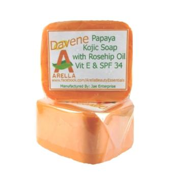 Arella Organic Davene Papaya Kojic Facial & Body Soap