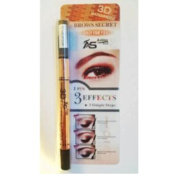 Ashley Shine 3 in 1 3D waterproof EyeBrow pencil mascara - Medium Brown