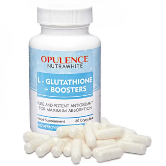 AUTHENTIC Opulence Nutrawhite L-Glutathione Plus Boosters Whitening Anti-aging Capsules Bottle of 60