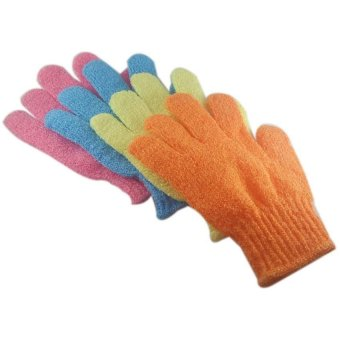 Bath Gloves set of 4 (Multicolor)