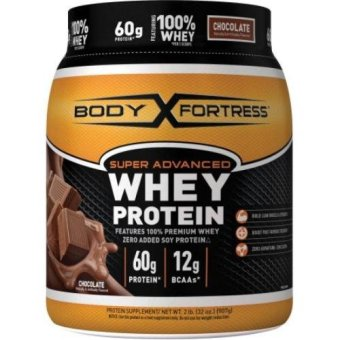 Body Fortress Super Advanced Whey Protein Chocolate 2 lbs, 60g Premium Protein